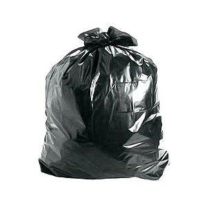 Saco de Lixo Geraplast Preto 100 Litros 75x90cm Reforçado Pacote com 100 unidades
