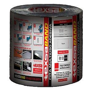 Fita Impermeabilizante Texsaband Alumínio 20cm Rolo 10 Metros