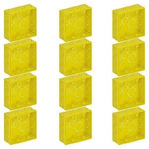 Caixa de Luz Tigre 4X4 Quadrada Amarela Com 12 Unidades