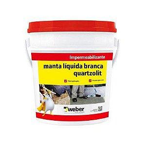 Manta Liquida Quartzolit Branca Balde 18kg