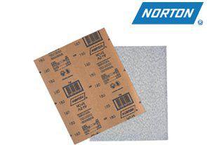 Lixa para Metal D'água Grão 320 Norton T223 Pacote com 50 Folhas