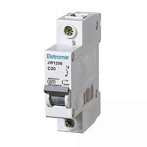 Disjuntor Din Monopolar Eletromar 220-400V 20A Curva C 12 unidades