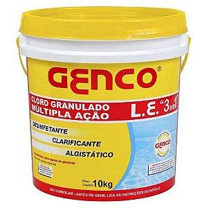 Cloro Genco Multi Ação 3 em 1 L.E Balde 10kg