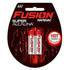 Pilhas Super Alcalinas Rayovac Fusion Pequena AA com 11 Unidades