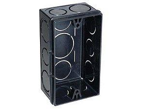 Caixa de Luz Tigre 4X2 Retangular Preta Caixa com 24 Unidades