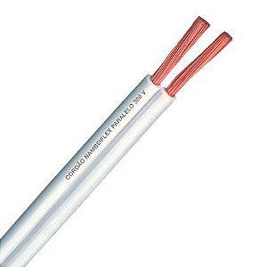 Fio Cordão Paralelo  Fcondutores 2 X 2,50mm 300V NBR 13249 Branco Rolo 100 Metros