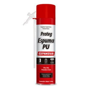 Espuma Expansiva Proteg 500ml 340g Baston