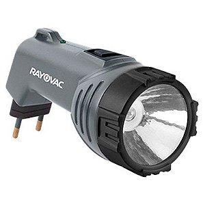 Lanterna Super Led Média Rayovac Recarregável