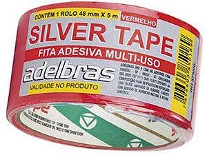 Fita Adesiva Silver Tape Adelbras 48mm x 05m