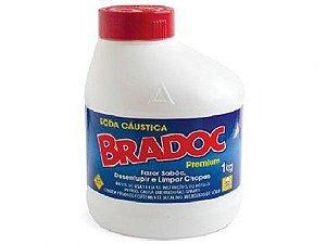 Soda Cáustica Bradoc 1kg Caixa com 06 Unidades