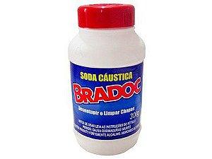 Soda Cáustica Bradoc 300g Caixa com 12 Unidades