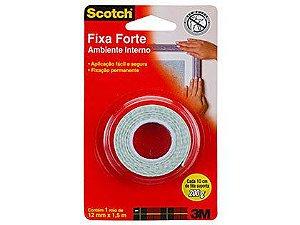 Fita Dupla Face Espuma 3M Fixa Forte 12mm x 1,5m