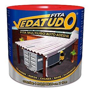 Fita Impermeabilizante VedaTudo Alumínio 20cm Rolo 10 Metros