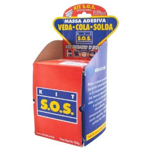 Kit SOS Vedatudo Massa Cinza Adesiva 250g