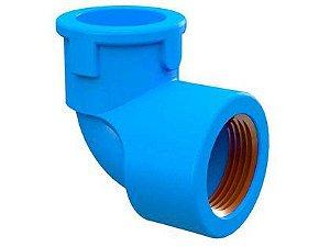 Joelho 90° Tigre PVC Soldável e Roscável Azul 25mm