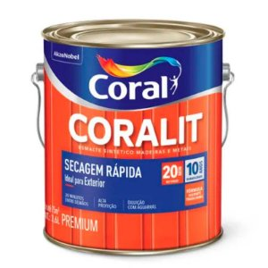 Esmalte Sintético Coralit Secagem Rápida Brilhante Laranja Galão 3,6 Litros