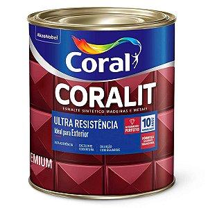 Esmalte Sintético Coralit Ultra Resistência Alto Brilho Azul Del Rey 1/16 com 12 Unidades