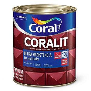Esmalte Sintético Coralit Ultra Resistência Fosco Preto 1/32 com 12 Unidades