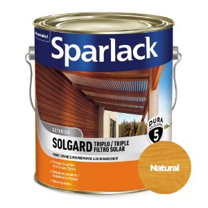 Verniz Sparlack Solgard Triplo Filtro Solar Brilhante Natural Incolor Galão 3,6 Litros