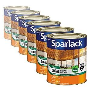 Verniz Sparlack Copal Balance Brilhante Transparente 900ml com 06 Unidades