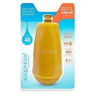 Refil Para Torneira com Filtro Acquabios Acqua E05 Amarelo