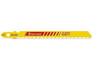 Lâmina para Serra Tico-Tico Starrett BU36 para Madeira Cartela com 05 Unidades