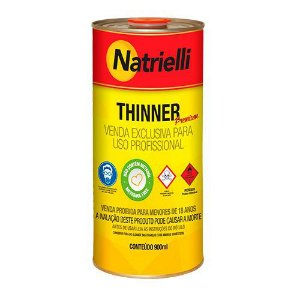 Redutor Thinner Natrielli para Pintura 8116 900ml Caixa com 12 Unidades