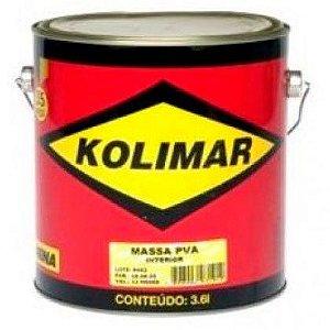 Massa Corrida Kolimar PVA para Pintura Galão 3,6 Litros Caixa com 4 Unidades