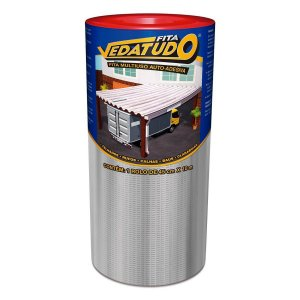 Fita Impermeabilizante VedaTudo Alumínio 45cm Rolo 10 Metros