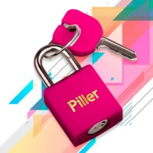 Cadeado Piller Rosa 20mm
