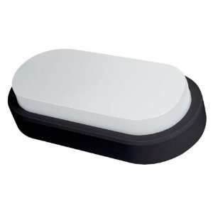 Arandela Oval Flat LED Demi 14W Bivolt 6500K Preta