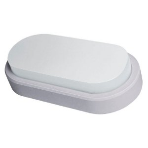 Arandela Oval Flat LED Demi 8w Bivolt 6500k Branca