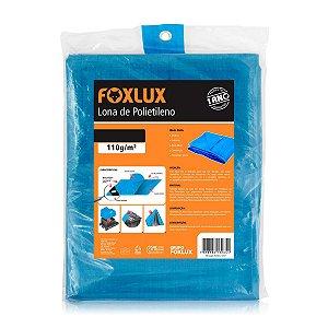 Lona de Polietileno Foxlux 4x4m Azul