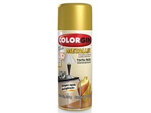 Tinta Spray Colorgin Metallik 052 Ouro