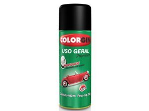 Tinta Spray Colorgin Uso Geral 200 Preto