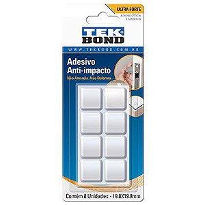 Adesivo Anti-impacto Tek bond Bumper Quadrado 19,8mm Cartela com 08 Unidades