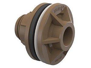 """Adaptador Soldável para Caixa D'água Tigre com Anel 1.1/4"""" ou 40mm"""