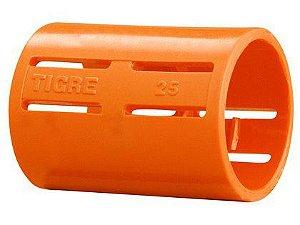 Luva para Conduíte Tigreflex Tigre Reforçada Laranja 25mm Embalagem com 50 Unidades