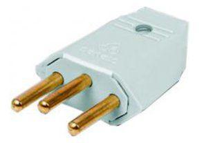 Plug Macho 2p+t Perplex Cinza 1048 20a 250v Kit 10 Unidades