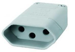 Plug Fêmea Perlex 2p+t Cinza 2046 20 À 250V Kit com 10 Unidades
