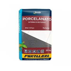 Argamassa Fortaleza para Porcelanato Pacote com 20Kg Cinza
