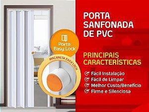 Porta Sanfonada Araforros 2,10 X 70 Cinza