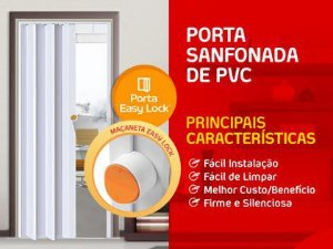 Porta Sanfonada Araforros 2,10 X 80 Branca
