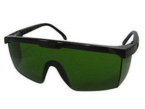 Óculos para Proteção 3M Vision 3000 Lente Verde Embalagem com 05 Unidades