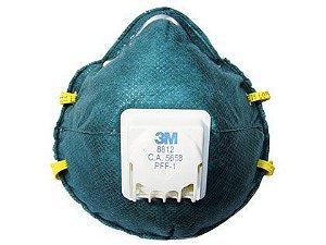 Máscara Filtradora 3M com Válvula 8812 Embalagem com 10 Unidades