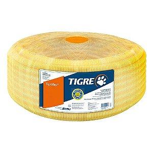 Eletroduto Corrugado TigreFlex 25mm ou 3/4 Amarelo com 50 Metros