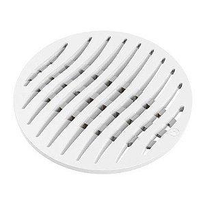 Grelha de PVC Tigre Ecológica Redonda Branca 150mm