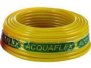 """Mangueira Acquaflex Flexplus Siliconada Amarela 3/4"""" x 2,0mm com 50 Metros"""