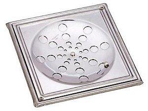 Grelha Rosinox com Caixilho Aço Inox 430 10 x 10cm