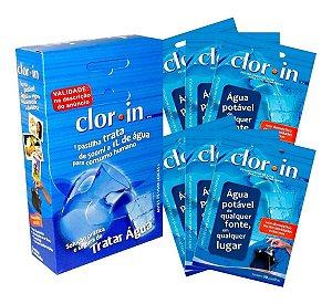 Cloro Clorin para 1 Litro d'Água Caixa com 60 Pastilhas